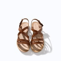 LEATHER STRAP SANDALS
