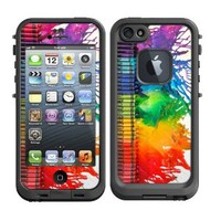 Skins Kit for Lifeproof iPhone 5 Case (skins/decals only) - Melting Crayons Colorful Case Melted Crayolas