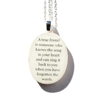 Best friend necklace wood . Best friend gift . Going away gift . personalized jewelry eco friendly graduation gift friendship gift