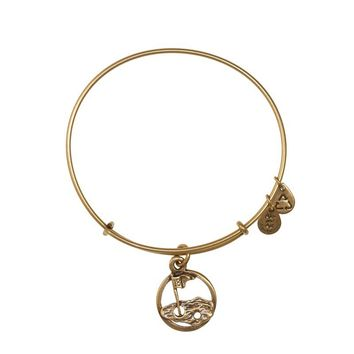 Alex and Ani 18th Hole Charm Bangle - Russian Gold
