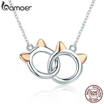 BAMOER Genuine 925 Sterling Silver Pendant Necklace