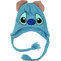 Disney Lilo & Stitch Character 3D Ear Flap Peruvian Cartoon Show Beanie Knit Hat