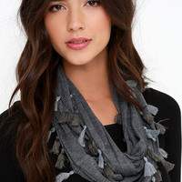 Former and the Flatter Grey Infinity Scarf