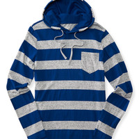 Striped Pocket Pullover Hoodie