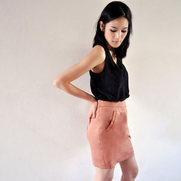 Brown Mini Skirt Short Pastel High Waist Bottom 6 S Etsy Gift Fall Fashion Plain Petite