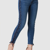 Machine Kiss N' Lace Up Jeans