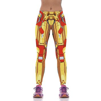 Golden Iron Man Armor Leggings