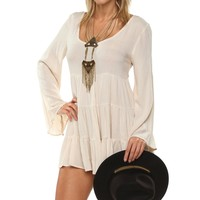 Sale-natural Enchanting Ruffle Tunic