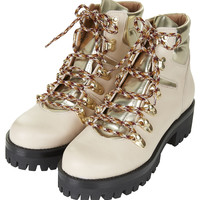 AHOY Lace-Up Hiker Boots - Boots - Shoes