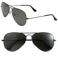 Men's Ray-Ban 'Polarized Original Aviator' 58mm Sunglasses