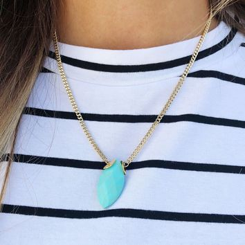 Always Dainty Necklace: Turquoise/Gold