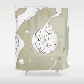 Mixed Media Shower Curtain by Rui Faria