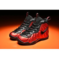 Kids Nike Air Foamposite Pro Red/Black Sneaker Shoe US 11C - 3Y