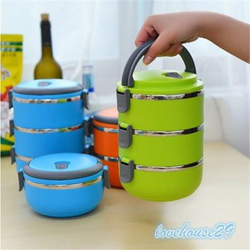 MAX Thermal Insulated Lunch Box Bento Picnic Storage Mess Tin Food Jar Multilayer Stainless Steel For Students Children Outdoor