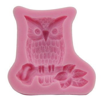 Cute Owl Fondant Cake Tools Silicone Mold Kids Party Cake Decoration Silicone Molds For Cake Baking Kitchen Free Shipping 1638