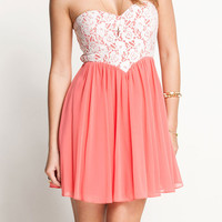 Fashion PINK Lace Tee Dress