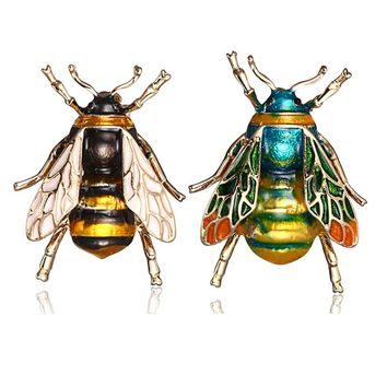 Insect Bumble Bee Brooch for Women Kids Girls jewelry Gifts Gold Color Yellow Green Enamel Brooches Jewelry bumble bee Badges