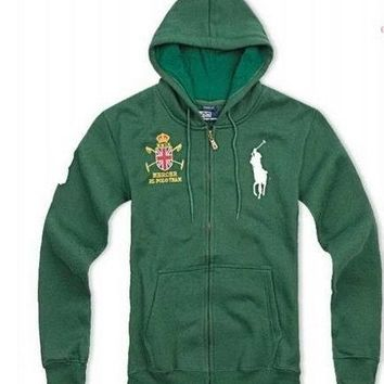 Beauty Ticks Ralph Lauren Club Big Pony Hoodies Green