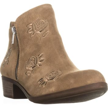 Lucky Brand Basel5 Side-Zip Ankle Booties, Sesame, 11 US / 41 EU