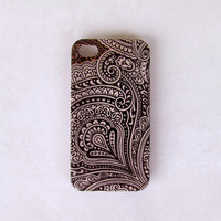 Iphone 4 case - Eastern art pattern Iphone 4s cover, Iphone 4s case. iphone 4 hard cover