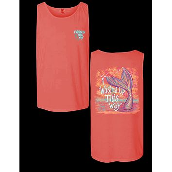 Sassy Frass Mermaid I Washed Up this Way Comfort Colors Bright T Shirt Tank Top