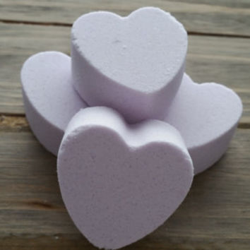 Sugar Plum Fairy Heart Bath Fizzies // Gift for Her // Dry Skin Relief // Mini Bath Bomb// Gift for Child