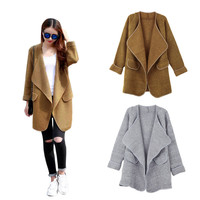 Open Front Shawl Collar Coat