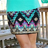 Sparkle & Shine Aztec Skirt
