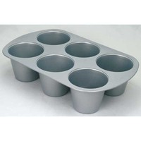 Wilton 6-Cup Kingsize Muffin Pan, 3.25 by 3-Inch