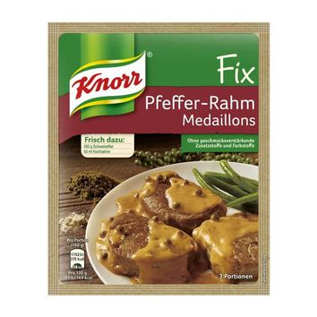 Knorr Fix Pepper Cream Sauce for Pork, from Germany, 1.2 oz