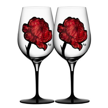 Tattoo Wine Glasses - Set of 2
