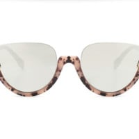 Fashion Hot Cat Eye Half Frame Sunglass