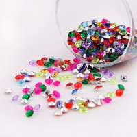 1000PCS 4.5mm Wedding Decoration Crafts Diamond Confetti Table Scatters Clear Crystals Centerpiece Events Party Festive Supplies