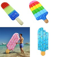 News Ice Cream Pool Float Inflatable Swim Rings 70 inchs Giant Water Toys In Water Swimming Adult Donut Air Mattresses
