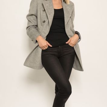 St. Sereno Women's Long Grey Blazer / Coat