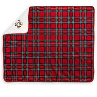 Mickey and Minnie Mouse Fleece Throw - Holiday | Disney Store