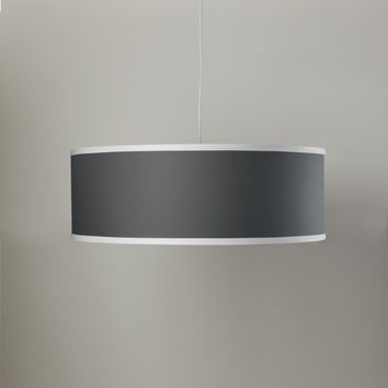 Solid Shallow Large Cylinder Lamp - Pewter