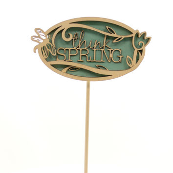 Easter Think Spring Plant Stake Easter Decor