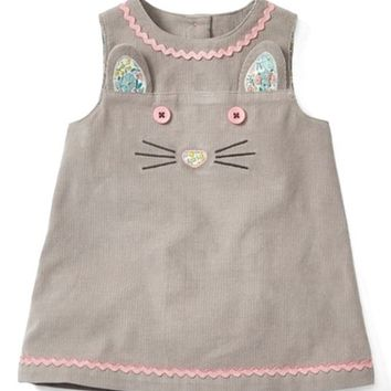 Mini Boden Fun Corduroy Pinafore Dress (Baby Girls & Toddler Girls) | Nordstrom
