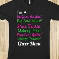 Supermarket: Cheer Mom Shirt from Glamfoxx Shirts