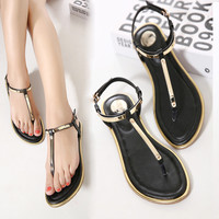 Women Sandals 2016 New Summer sequin Sandals Flip Flops size 35 to 41 Shoes Flat Sandal KJ341