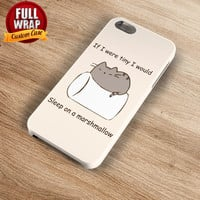 Very Lazy Cat Sleep On Marshmallow Full Wrap Phone Case For iPhone, iPod, Samsung, Sony, HTC, Nexus, LG, and Blackberry