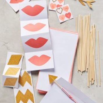Valentine's Love Notes Kit by Anthropologie in Red Size: Set Of 24 Gifts