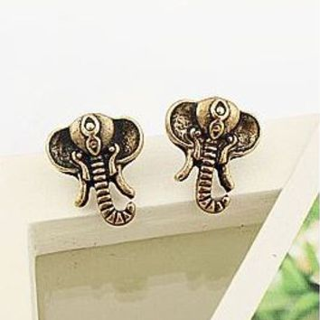 Elephant Vintage Fashion Earrings (Antique Bronze) - LilyFair Jewelry