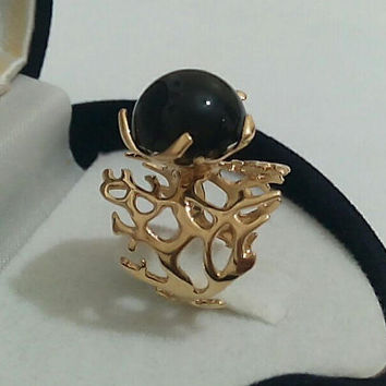 Gold Onyx Ring,Silver Onyx Ring,Gold ,Black Onyx Ring,Onyx Engagement Ring,Gemstone Ring