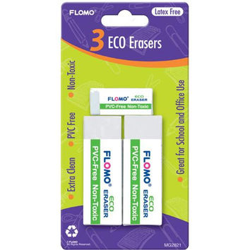 3 pack Eco Erasers