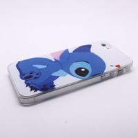 Disney Stitch Transparent Side Hard Back Skin Case Cover for iPhone 5 5S