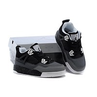 Kids Air Jordan 4 Dark Gray/black Sneaker Shoe Size Us 11c 3y | Best Deal Online