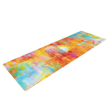 "Ebi Emporium ""Off The Grid"" Orange Rainbow Yoga Mat"