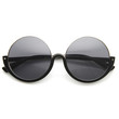 Womens High Fashion Upside Down Half Frame Round Circle Designer Sunglasses 9118